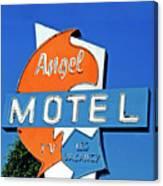 Angel Motel Canvas Print