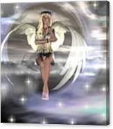 Angel On A Cloud Canvas Print