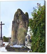 Angel On Graveyard Canvas Print