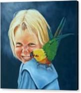 Angel On My Shoulder Canvas Print