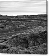 Angel Peak Badlands, Bloomfield, New Mexico, Illuminated By A Cl Canvas Print