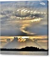 Angel Ray Sunset Canvas Print