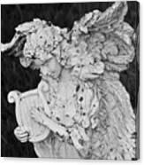 Angel With Harp Canvas Print