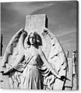 Angel With Outspread Wings And Other Angels In The Background Canvas Print