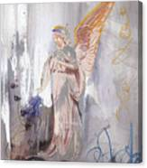 Angel Writing Doodles In Spirit Canvas Print