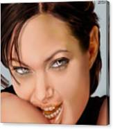 Angelina Jolie - Cold Seduction  Canvas Print