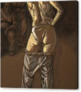 Angelique With Men Canvas Print