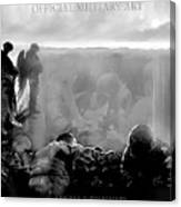 Angels And Brothers Black And White Canvas Print