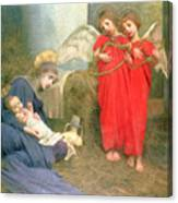 Angels Entertaining The Holy Child Canvas Print