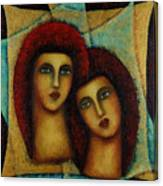 Angels In Red. Canvas Print
