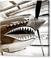 Anger Management Bw Palm Springs Air Museum Canvas Print