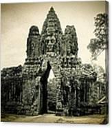 Angkor Thom Southern Gate Canvas Print