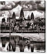 Angkor Wat Sepia Paint  Canvas Print