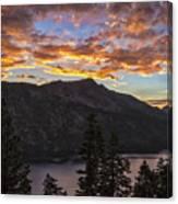 Angora Ridge Sunset 9 Canvas Print
