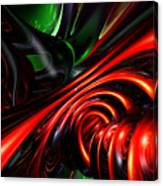 Angry Clown Abstract Canvas Print