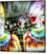Angry Clowns Canvas Print