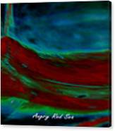 Angry Red Sea Canvas Print