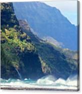 Angry Sea, Na Pali Coast Canvas Print