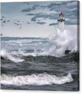Angry Waters Of Lake Ontario Canvas Print