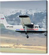 Anguilla Air Services Britten-norman Bn-2a-26 Islander 114 Canvas Print