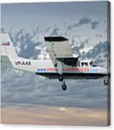 Anguilla Air Services Britten-norman Bn-2a-26 Islander 113 Canvas Print