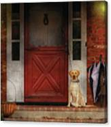 Animal - Dog - Waiting For My Master Canvas Print