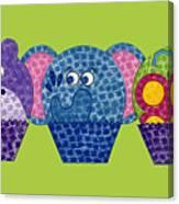 Animal Cupcakes 2 Canvas Print