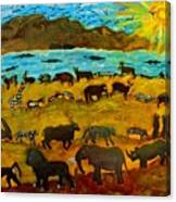 Animal Exodus Canvas Print