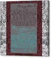 Animal  Ketubah- Reformed And Interfaith Version Canvas Print