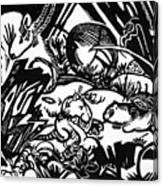 Animal Legend 1912 Canvas Print