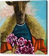 animal portrait - Flora Shepard Canvas Print