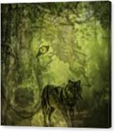 Animal Sprits - The Wolf Canvas Print