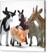 Animals Figurines Canvas Print