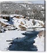Animas River In January Canvas Print