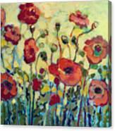 Anitas Poppies Canvas Print