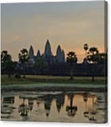 Angkor Wat Sunrise Pond Canvas Print