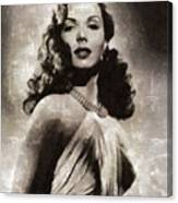 Ann Miller, Vintage Actress Canvas Print