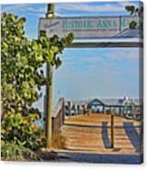 Anna Maria City Pier Landmark Canvas Print