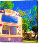 Anna Maria Elementary School Bus C131270 Canvas Print