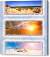 Anna Maria Island Beach Collage Canvas Print
