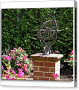 Annapolis Garden Ornament Canvas Print