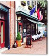 Annapolis Md - Restaurant On State Circle Canvas Print