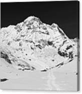 A View Of Annapurna South Canvas Print