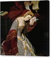 Anne Boleyn In The Tower Canvas Print