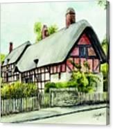 Anne Hathaway Cottage England Canvas Print