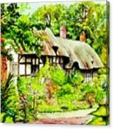 Anne Hathaways Cottage  Canvas Print