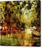 Annecy France Pont Des Amours Canvas Print
