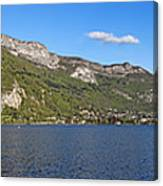 Annecy Lake Panorama Canvas Print