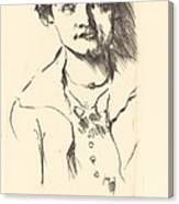 Anneliese Halbe (bildnis Einer Jungen Dame (anneliese Halbe)) Canvas Print