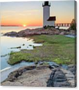 Annisquam Lighthouse Sunset Vertical Canvas Print